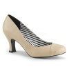 JENNA - 01 Cream Faux Leather